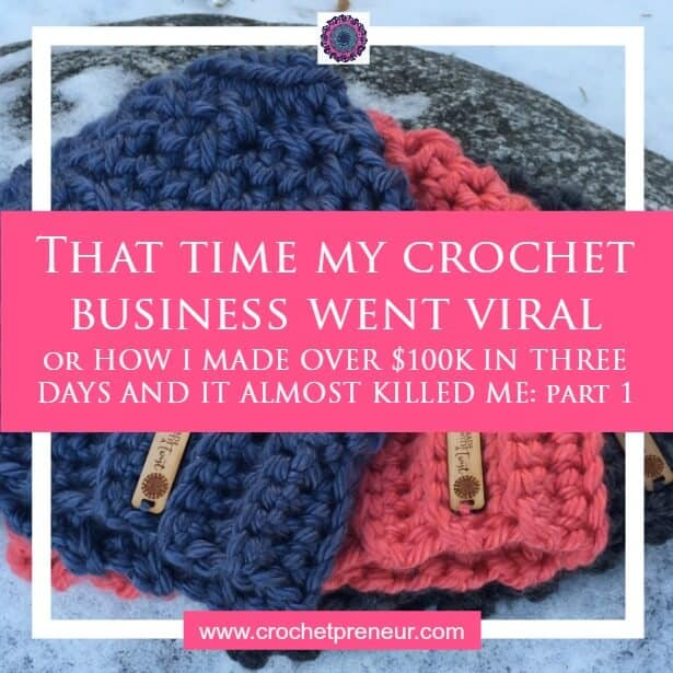 CROCHET BUSINESS | VIRAL | MESSY BUN HAT This is part one in the story of the time in late 2016 when my crochet business went viral with the messy bun hat. I made over $100K in three days, but it almost killed me. Find out what happened.