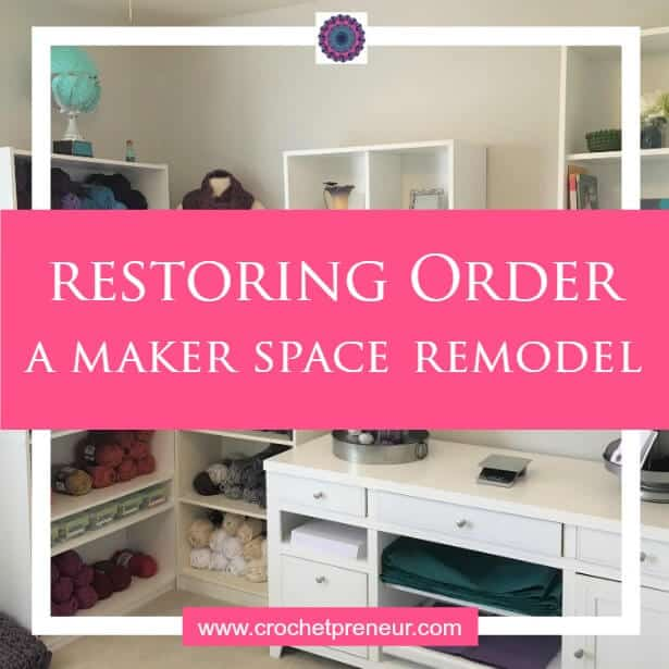 CRAFT ROOM REMODEL | MAKER SPACE REMODEL | CROCHET STUDIO My crochet studio/craft room was in chaos for months and I couldn't take it any longer. I'm so excited to finally share my maker space remodel with you!