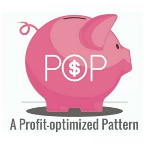 "A photo of a pink piggy bank with a text ""A Profit-optimized Pattern"" at the bottom"