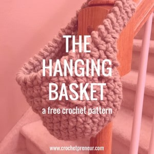 FREE CROCHET PATTERN   HANGING BASKET   Fumbling for your glasses and phone in the middle of the night? Always losing your keys? If so, this free crochet pattern hanging basket is for you!