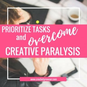 PRIORITIZE DAILY TASKS and OVERCOME CREATIVE PARALYSIS | Are you a handmade business owner who is overwhelmed by the need to do ALL the things!? This simple tool can help you quite the noise and focus on the things that will get your business moving forward so you can be open to the flow of creativity and calm.