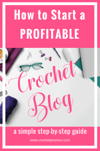 Check out this step-by-step tutorial on how to start a crochet blog. Walk through the creation of a maker blog from start to finish in 10 - 15 minutes. It's so easy to start a blog and build new revenue streams into your business. Get started today! #startablog #startacrochetblog #howtostartablog #startamakerblog #setupablog #crochetblogging #bloggingaboutcrochet #blogaboutcrochet #crochetblog #crochetblogger