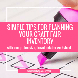 CRAFT FAIR INVENTORY PLANNER | Determining price for products and the amount of product to bring to a craft fair are some of the most difficult tasks for handmade sellers. With these simple tips and the downloadable Pricing and Inventory Planning Spreadsheet, you can make this job a breeze. Check it out! #craftfairinventory #howmuchinventory #howmuchproduct #craftfair #craftfairplanner #craftfairplanning #craftfair