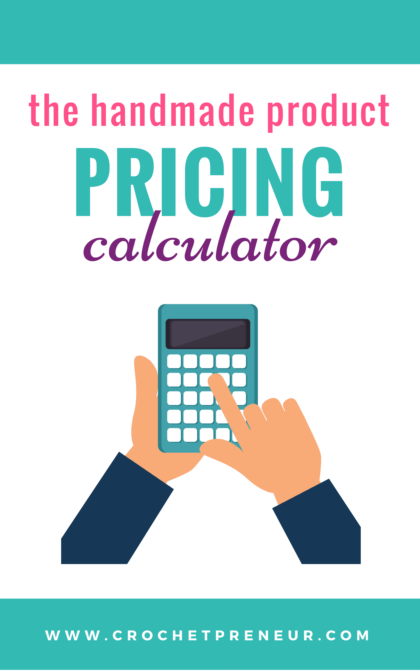 Pinterest graphic for the Handmade Product Pricing Calculator