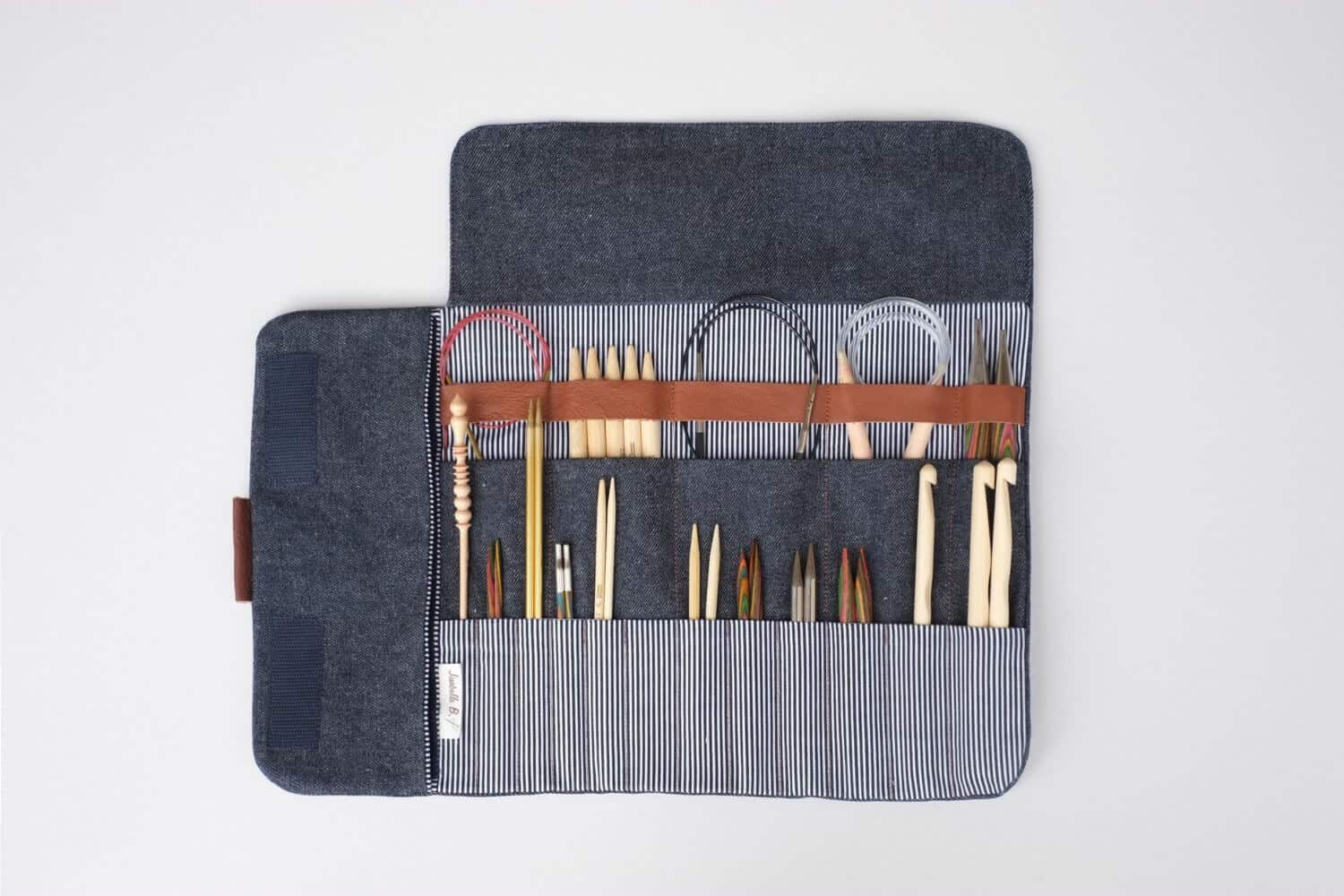 Image of a Crochet Hook Case with various hooks as a sample