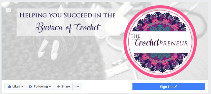 Sample photo of the Sign Up button on your Facebook page