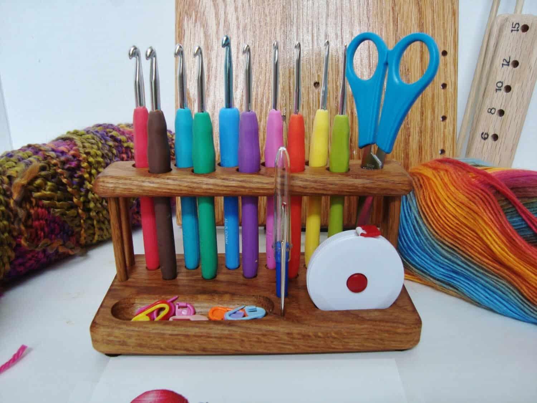 Crochet Hook Workstation from Chetnanigans | Gift Guide for Crocheters
