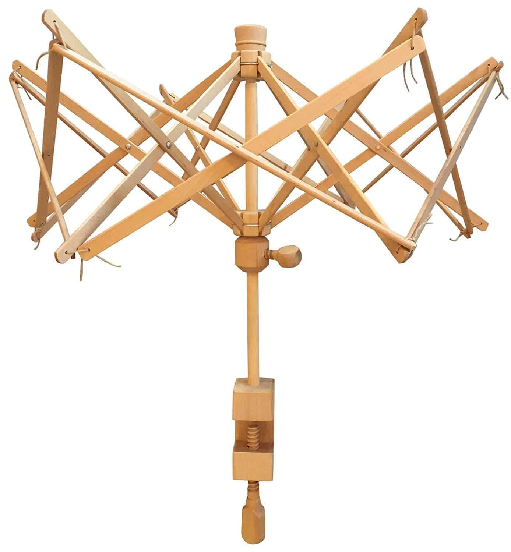 Image of a wooden Yarn Swift