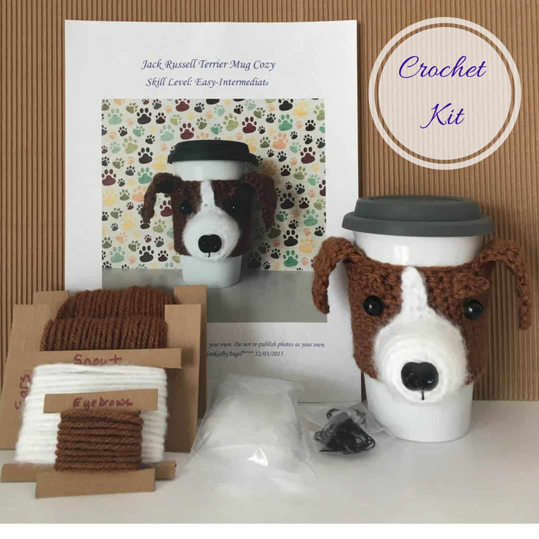 Photo of Jack Russell Crochet Kit from Hooked by Angel