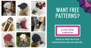 Signup for free crochet patterns