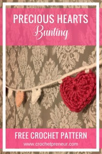 PRECIOUS HEARTS BUNTING | VALENTINE'S BUNTING | CROCHET PATTERN #heartcrochetpattern #crochetbunting
