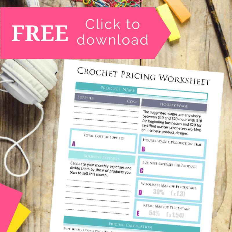 crochet pricing worksheet
