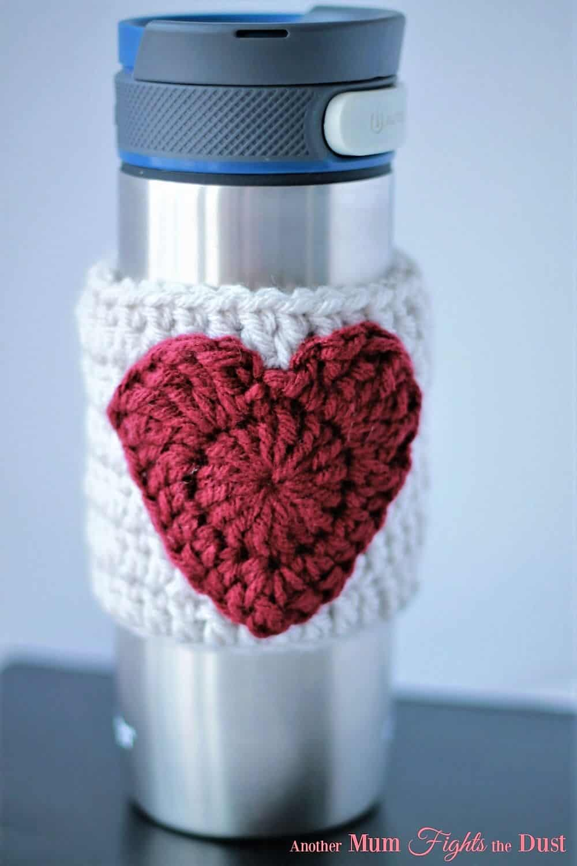 Heart mug cozy