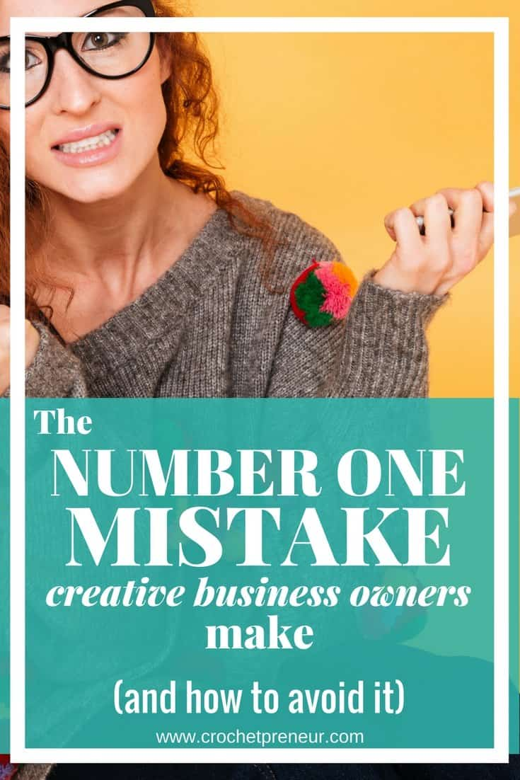 Have you made this mistake? If you're having a hard time reaching customers who love and buy your handmade products, perhaps you've fallen into this trap. #handmadeseller #creativebusiness #creativeentrepreneur #crochetentrepreneur #crochetbusiness #crochetpreneur #solopreneur #etsy #etsyseller