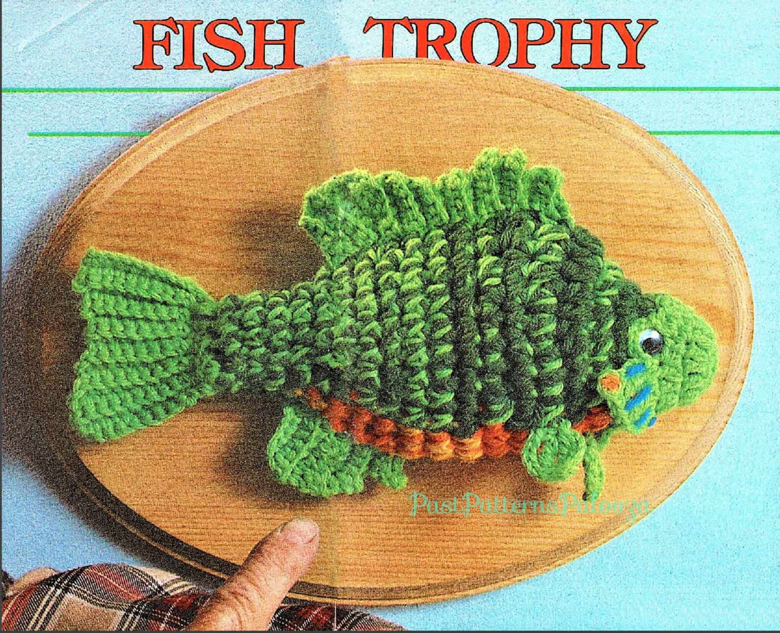 trophy fish crochet pattern