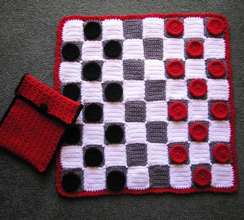 checker game crochet pattern