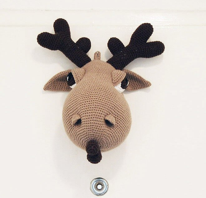 Crochet taxidermy moose