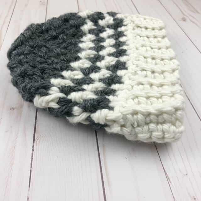 Closer photo of Kaydence Ponytail Hat Crochet Pattern