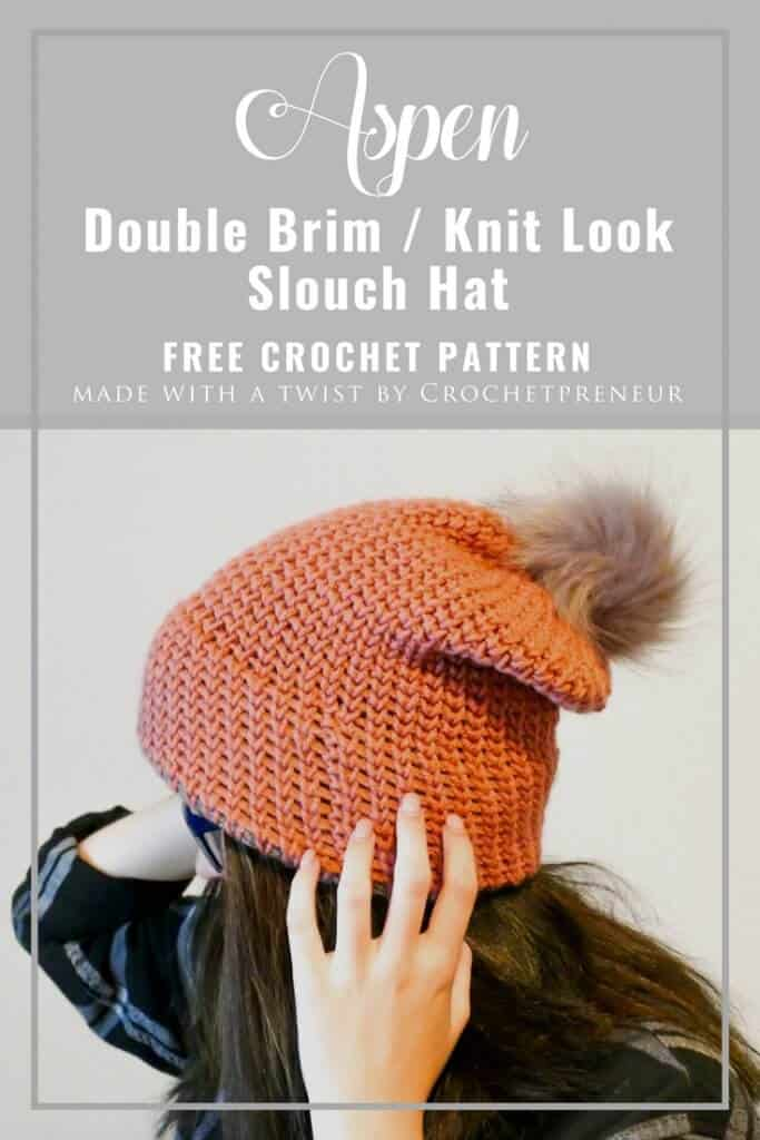 """8cb74efce01 This double brim knit-look beanie is the third of four hats being  highlighted in my """"All the Double Brim Hats"""" series. You can find the  others here"""