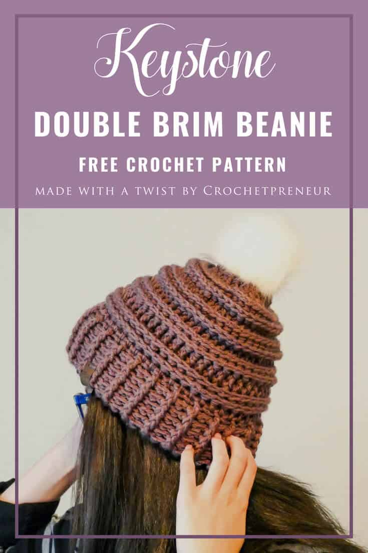 OMG This is the squishiest hat I've ever made and the double brim makes it double warm!