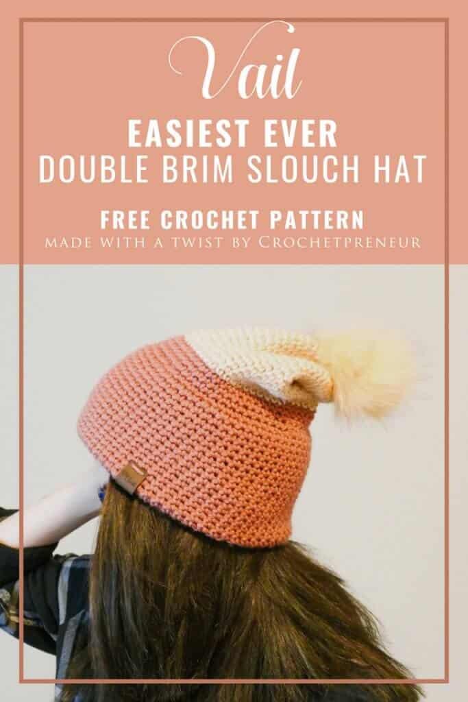 8143d6f2207 Easy Double Brim Slouch Hat  Free Crochet Pattern - Crochetpreneur