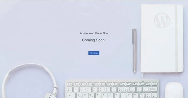 "This is what your website will look like before you launch your blog. A ""Coming Soon!"" will appear when you visit your website"