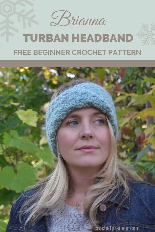 Trendy and beginner-friendly, this turban headband crochet pattern is just thing you need to keep your ears warm and toasting this winter. #turbanheadbandcrochetpattern #turbancrochetpattern #headbandcrochetpattern #freecrochetpattern #chainthreedesign #30daysofcozy