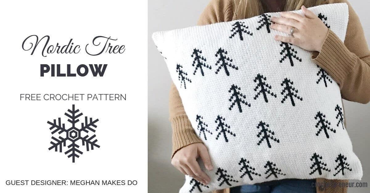 50caa1a56 Nordic Tree Pillow Crochet Pattern - Crochetpreneur