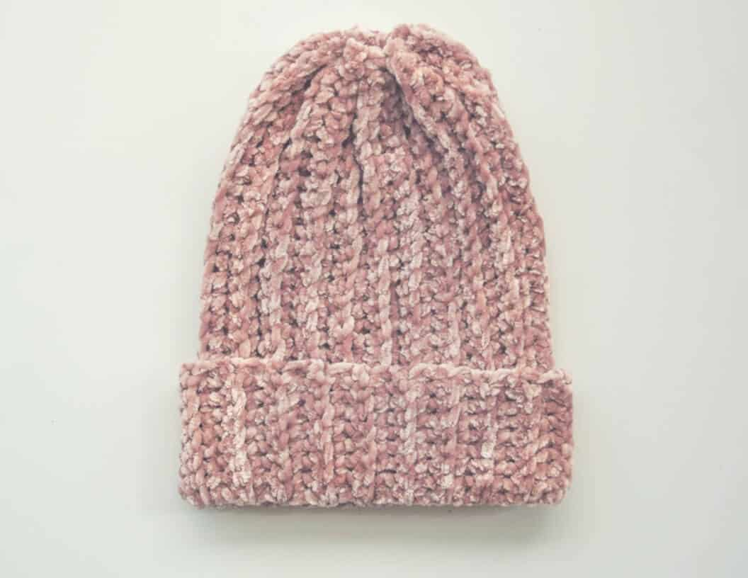 Photo of Penelope Velvet Beanie with white background