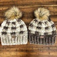 Chunky Buffalo Plaid Hat