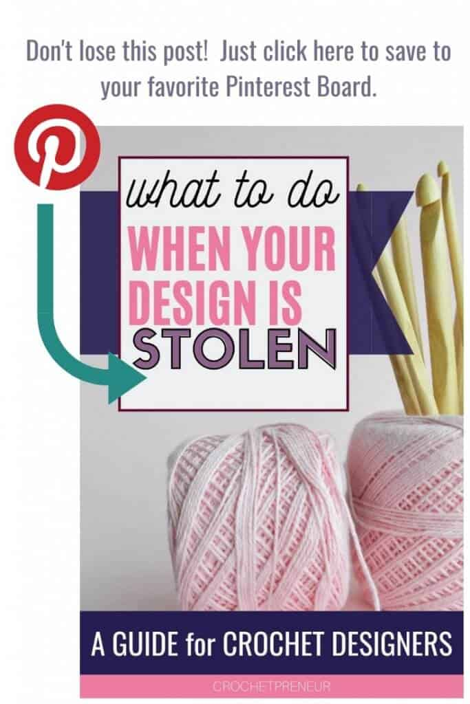 A graphic reminding you to pin this image in your crochet related Pinterest boards.