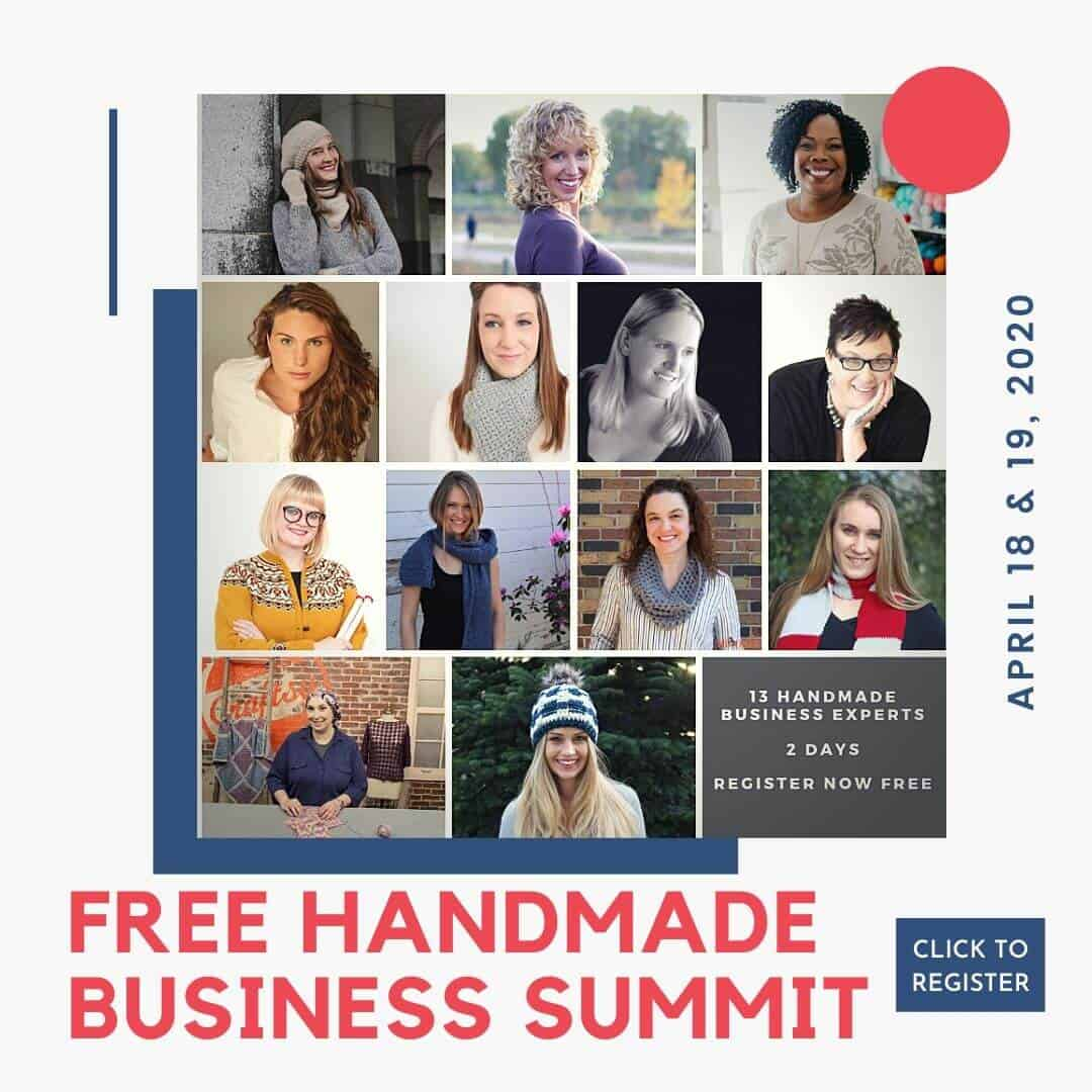 Click here to register for the free handmade business summit happening online april 18 and 19, 2020