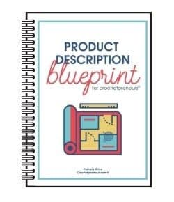 product description blueprint mockup